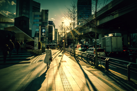 straatbeeld in Tokyo