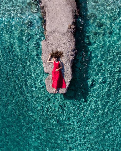 Het heldere water in Griekenland