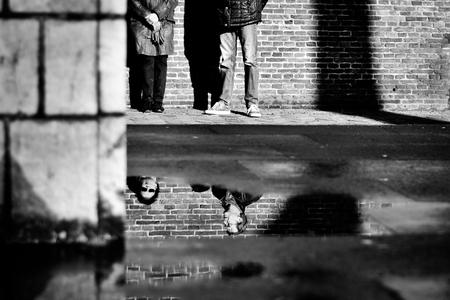 Untitled... - - - foto door ellis77 op 12-03-2018 - deze foto bevat: water, spiegeling, reflectie, zwartwit, utrecht, straatfotografie