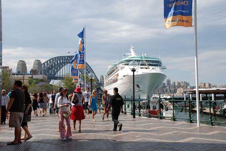 Bootje in de haven Sydney