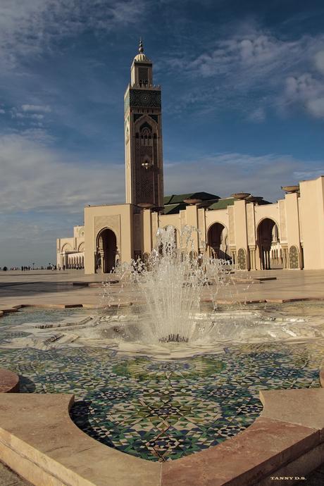 Moskee Hassan II . buiten