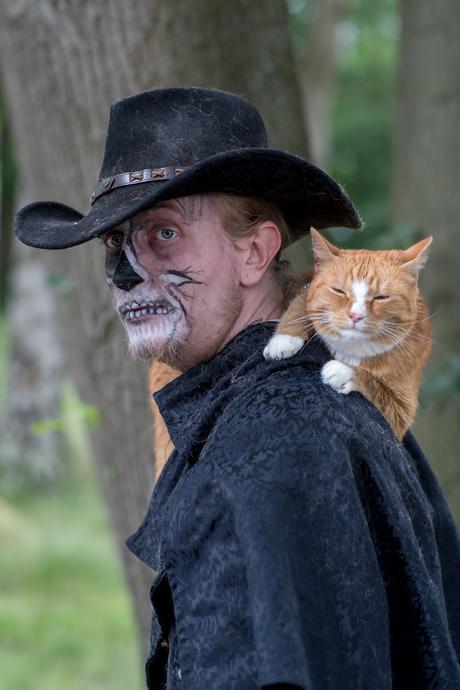 Portret met kat