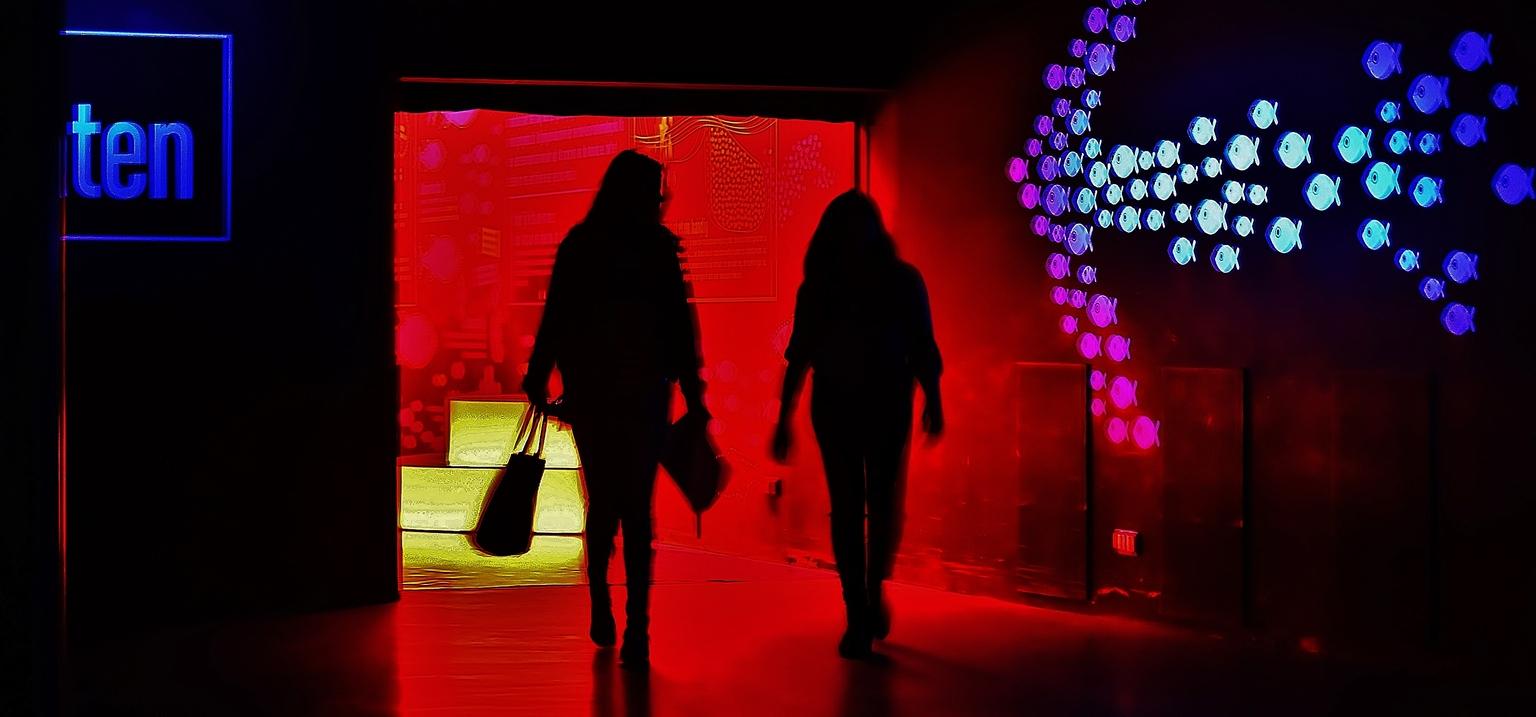 Oceanium / Blijdorp - ....Een bezoek gebracht aan Oceanium in Blijdorp, sfeervol en kleurrijke locatie om mooie plaatjes te maken. - foto door f.arts1 op 11-04-2021 - locatie: Blijdorp, Rotterdam, Nederland - deze foto bevat: mens, vermaak, staand, roze, rood, uitvoerende kunst, magenta, evenement, pret, stadium