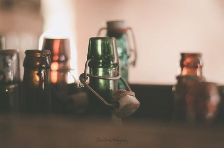 Glazen fles met keramische kroonkurk