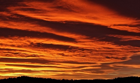 solnedgang in Noorwegen