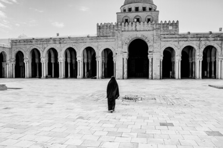 walking to the great mosque