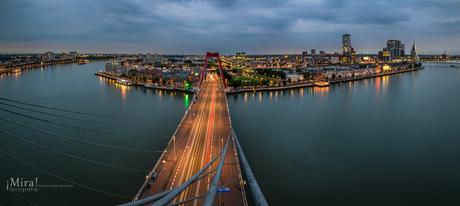 Het Noordereiland vanaf de Willemsbrug