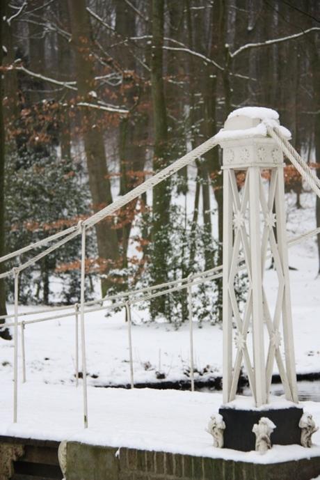 Sneeuw in Sonsbeek