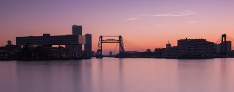 rotterdam skyline @ sunset