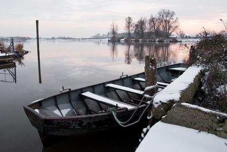 voetveer in winter