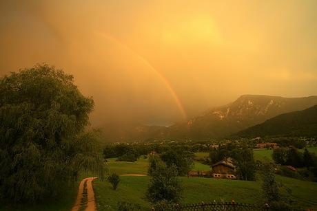 heftige bui boven Beieren