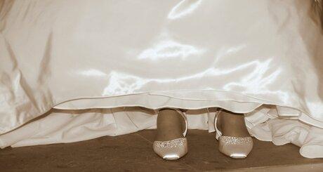 Schoenen van de bruid