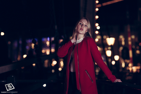 Night time shoot with Ghislaine in Amsterdam