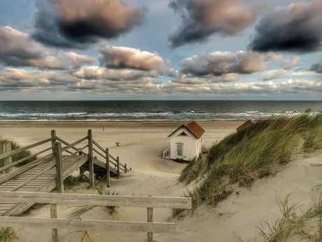 Tiny house on the sea