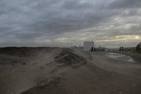 Strand IJmuiden tijdens okotoberstorm 2013