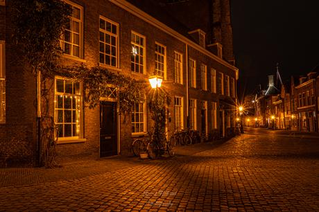 Oude gebouwen in Leiden