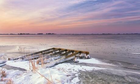 Steigerresten in het ijs