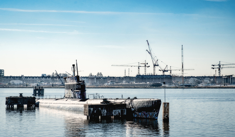 Small Black asbest submarine
