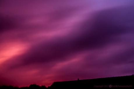Zonsondergang tijdens noodweer