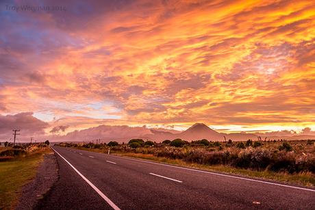 Ochtend glorie Mount Doom, Nieuw Zeeland