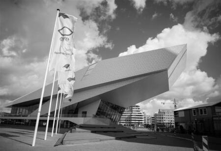 Nikon Testpanel lenzendagen - Deze foto is gemaakt door testpanellid Henk Jan voor het Zoom.nl Testpanel lenzendagen. - foto door kimvana_zoom op 22-08-2014 - deze foto bevat: amsterdam, stad, eye, zwartwit, filmmuseum