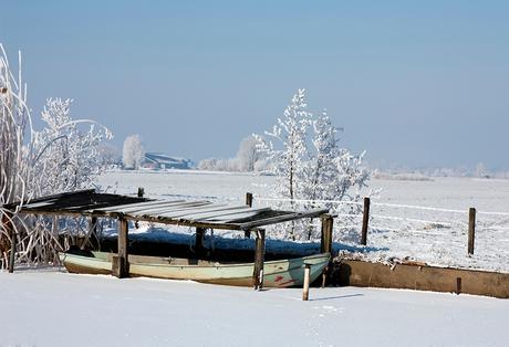 winter roeiboot