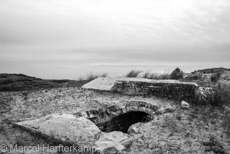 Bunker in black and white