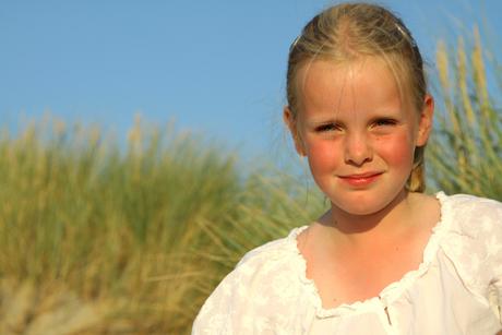 Rosanne in de duinen