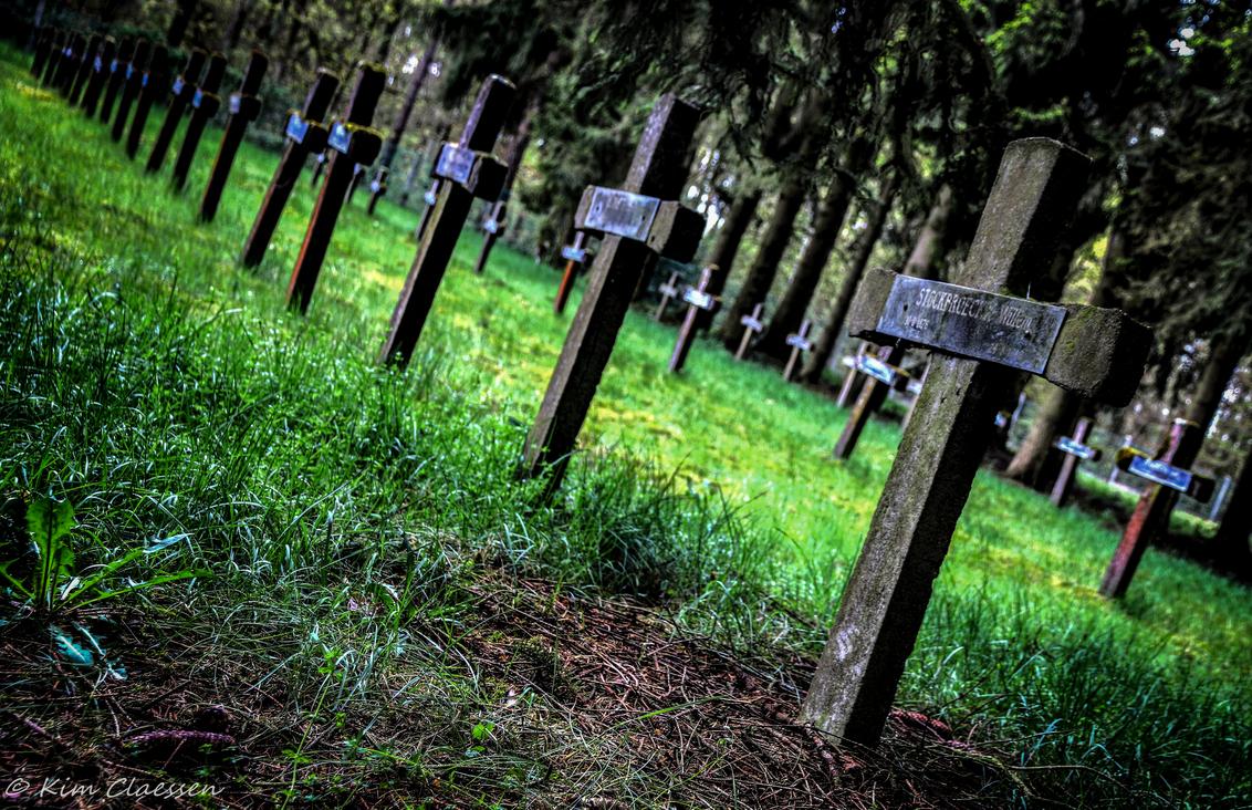 Graven - Vandaag voor het eerst een bezoekje gebracht aan 'Cemetery of the insane'. Dit is een HDR foto, waarbij ik 3 identieke foto's met verschillende belic - foto door KC78 op 27-04-2015 - deze foto bevat: natuur, landschap, bos, graven, kerkhof, bewerking, graf, belgie, vervallen, hdr, urbex, tonemapping, photomatrix, Cemetery of the Insane