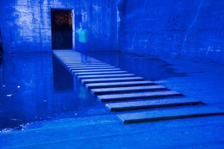 blauw met schim