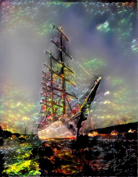 Sail into Aurora Borealis.