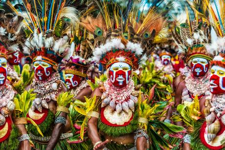 Festival Mount Hagen Papua Nieuw Guinea