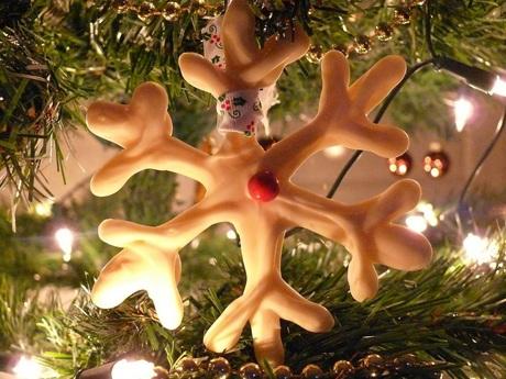 Sneeuwvlok in kerstboom
