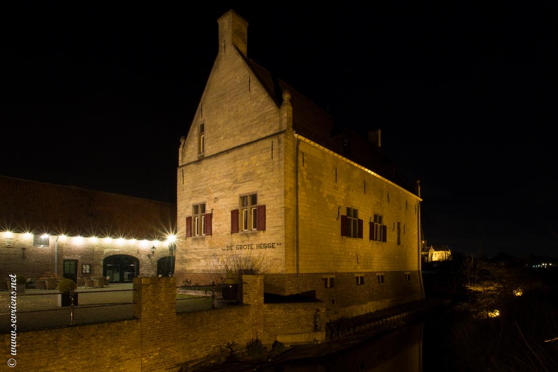 De Grote Hegge Ridderzaal - Mijn aanstaande trouwlocatie. - foto door lucsevriens op 29-01-2014 - deze foto bevat: nacht, thorn, trouwlocatie, Grote Hegge