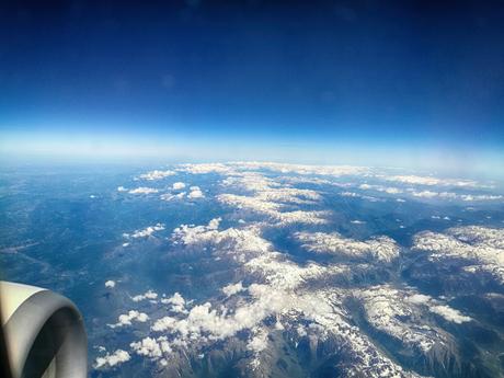 De Pyreneeën vanuit een vliegtuig
