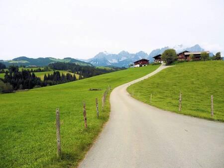 weg naar de berg - Oostenrijk Rheit met de Wilde Keizer op de achtergrond - foto door janschukkink op 24-03-2011 - deze foto bevat: 18