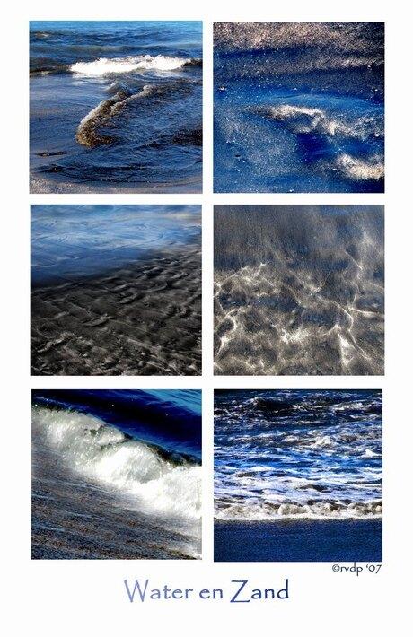 Water en zand collage