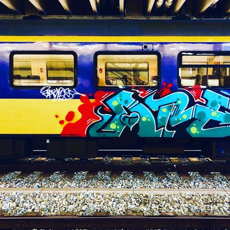 Grafitti op trein