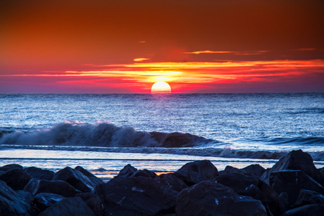 Zonsondergang op texel 2