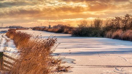 Een ijzig landschap