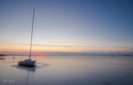 Zonsondergang op het Veluwemeer