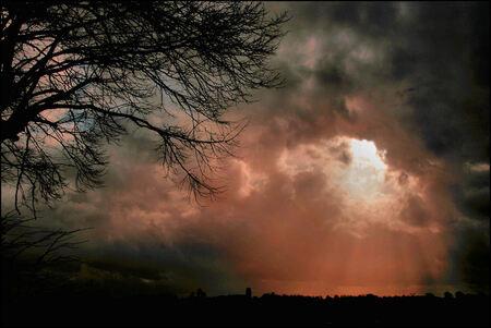 Lucht boven Loppersum - Afgelopen zaterdag - foto door Teunis Haveman op 03-02-2020 - deze foto bevat: natuur, licht, landschap