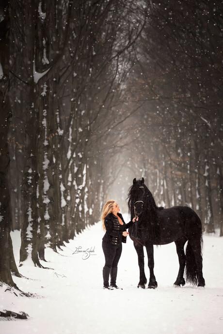 Romantische paardenfotografie - Samantha Steenwijk met Voice