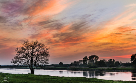 Sunset over the Ijssel