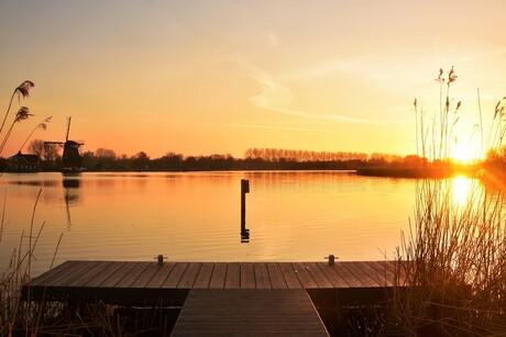 Sunset in de Merenwijk, Leiden