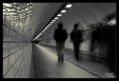 Walking trough the tunnel