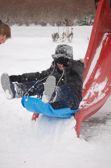 glijbaan word sneeuwhelling