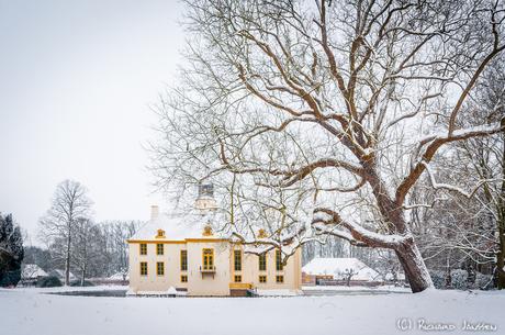 Fraeylemaborg in de sneeuw