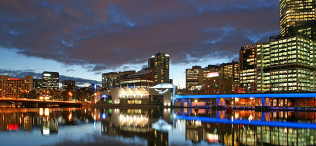 Dusk in Melbourne