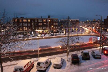 Lorentzplein in de Sneeuw